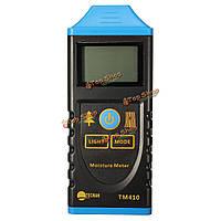 TM410 Профессиональный цифровой ЖК-подсветкой тест гигрометр тестер датчик влажности Измеритель влажности древесины дисплей