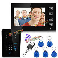 2.4g беспроводной RFID пароль удаленного видео домофон домофон дверной звонок системы камеры монитор контроля доступа домашней безопасности