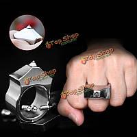 Стали вольфрама само поставляет оборонные безымянный палец женщины мужчины выживание безопасность кольцо с инструментом цепи