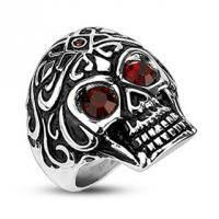 Мужское кольцо в виде черепа H2195