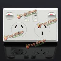 2.Гнездо 1a Dual USB 3 зубца + 2 Выключатель типа питания пластины а.е. домой панель стены, фото 1