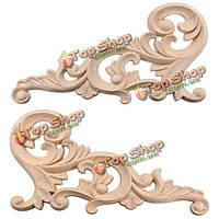 20x10см деревянная резная угол украшение неокрашенной накладка рамы