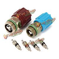4шт сердечник кондиционер клапан +/с системой колпачок и сервисный клапан комплект