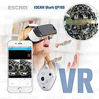 ESCAM акула 960P IP Wi-Fi камера 1.3MP камера 360° панорамный инфракрасного ночного видения QP180 Рыбий поддержка камеры вр окно