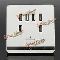 3.4a сети переменного тока электрической розетке Гнездо пластины на выходе зарядного устройства панель с 6 USB-порт, фото 1