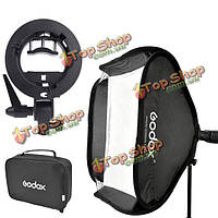 Godox s-типа 80 х 80см Speedlite софтбокс с кронштейном держатель для фотографии студии