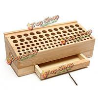 268 * 85мм держатель кейс для хранения деревянные пробирки кожаный ящик для поделок инструмент