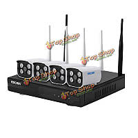 ESCAM WNK403 720p точка доступа automatch открытый P2P ночного видения IP-камера IR Комплект NVR 4CH Wi-Fi
