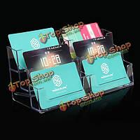 6 карман держатель дисплея акриловый офисный стол полка бизнес удостоверение личности, фото 1