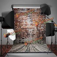 3x5ft винил кирпичная стена деревянный пол фон съемки фотостудия реквизит фон