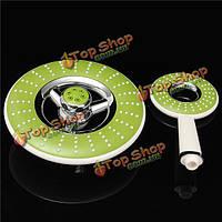 Зеленый ванной круглый спрей ручные душевые кабины 220 / 120мм ABS 2pcs