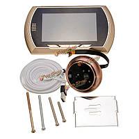 4.3-дюйма LCD  дверной звонок глазок двери домашней безопасности камеры видео монитор новый