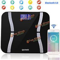 180кг Bluetooth  4.0 LED цифровой смарт вес шкала жира тела кости мышц BMI потребления калорий содержание влаги тестер