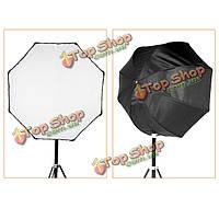 Godox 80см портативный восьмиугольник софтбокс зонтик зонтик отражатель для вспышки Speedlight