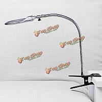 Новый 2.5 х 90мм 5 х 22мм 2 LED освещенный стол столешнице лупа с зажимом
