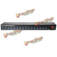 BZX-1601 16 канальный активный балун видео UTP видео ресивер 1800м высокой плотности 1u стоечный для камер видеонаблюдения