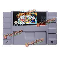 Супер Марио все-звезды 16 бит карточная игра картридж для 46 пин ПФС системы SNES Ntsc