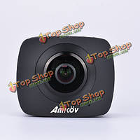 AMKOV AMK200S двойной объектив рыбий глаз 360° панорамы 960P 30fps действие вр камеры Wi-Fi камера спорта