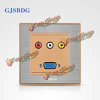 GJSBDG настенный выключатель панели мультимедиа переключатель Series Classic для рисования краской