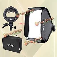 Godox 40 x 40см вспышка Speedlite свет софтбокс диффузор зонтик с s-типа кронштейна BOWENS держатель