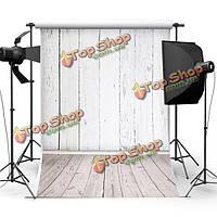 5X7ft белый шелк деревянная стена пол фотографии фоном фон съемки фото студия реквизита