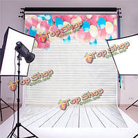 5x7ft фон студия фотографии фон реквизита прекрасный воздушный шар деревянный пол