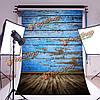 5x7ft 2.1x1.5см шелк синий деревянный пол фотографии фон фон фото студия реквизита