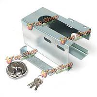 Металл универсальный прицеп безопасности замок буксировка противоугонной блокировки с 2 ключами