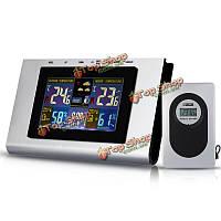 TS-H127G 433МГц температура беспроводная метеостанция погода оповещения часы термометр календарь гигрометр сигнализация звуковым сигналом про
