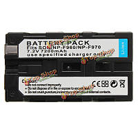 NP-F970 F770 F570 F930 7200мАh аккумуляторная батарея для Сони mc1500c 190p 198p F950 mc1000c hd1000c v1c z5c Z7C pd198p 150P LED