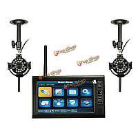 7-дюймов LDC монитор DVR с движением камеры видеонаблюдения 2 беспроводной обнаружения системы домашней безопасности