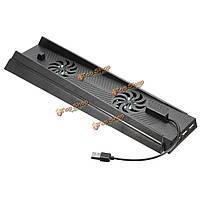 1 USB 2 хаб + двойной вентилятор охлаждения держатель Вертикальная подставка для Sony Playstation 4 PlayStation 4 PS4