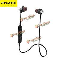 AWEI A860BL спорт Беспроводная связь Bluetooth  4.0 наушники гарнитура громкой связи с микрофоном для ИОС телефон андроид