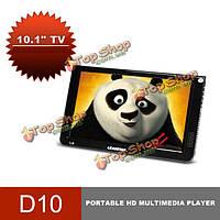 DVB-T2/DVBT цифровой аналоговый портативный LED HD TV 1080p поддержка USB TF TFT Leadstar d10 10.1-дюйма 16: 9