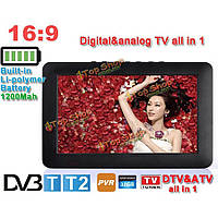 DVB-T2/DVBT цифровой аналоговый портативный Mini LED HD TV 1080p поддержка USB TF D9 9-дюймов 16: 9 TFT Leadstar