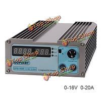 CPS-1620 0-16v 0-20А компактный цифровой регулируемый источник питания постоянного тока 110В/220В