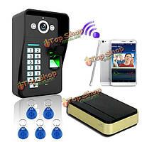 Отпечатков пальцев WiFi распознавания видео домофон дверной звонок домофон SYWIFI007 камера RFID IR Эннио