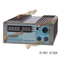 CPS-1610 110В/220В прецизионный цифровой регулируемый мини-блок питания постоянного тока 10А 16v