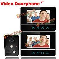 Сенсорный экран ЖК-видео домофон проводной видео домофон 2 монитора дверной звонок SY811MKB12 Эннио TFT дюймовый