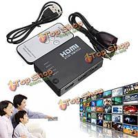 5 порт 1080p HDMI переключатель переключатель сплиттер коробка концентратор с беспроводного пульта дистанционного управления