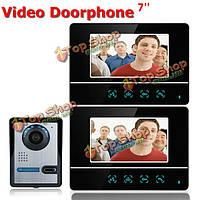 Сенсорный экран ЖК-видео домофон проводной видео домофон 2 монитора дверной звонок SY811FA12 7 дюймов TFT Эннио