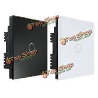 AC 250В закаленного стекла настенный выключатель панели-One переключатель двойной контроль