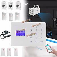 Смс домашней безопасности домашней пожарной охранной сигнализации датчик автоматического дозвона GSM беспроводной ЖК