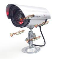 CA-11-03 фиктивная поддельные пули флэш LED камеры видеонаблюдения Водонепроницаемая камера безопасности с металлической скобой