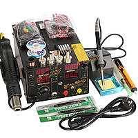 909D+ переделки паяльная станция тепла фена постоянного тока USB источник питания 220В переменного тока ЕС Plug