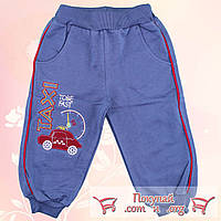 Спортивные брюки с начёсом для мальчика от 1 до 4 лет (4700-2)