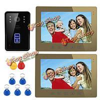 10-дюймов радиочастотная идентификация видео домофон домофон дверной звонок сенсорной кнопки дистанционного 2-монитора SY1001A-MJID12 Эннио