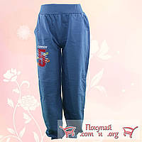 Спортивные брюки с начёсом для пацанов от 9 до 13 лет (4702-2)
