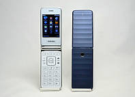 """Мобильный телефон раскладушка Самсунг G150 на 2 сим-карты 2,6"""" экран"""