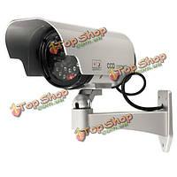 На солнечных батареях фальшивый камера outoodr фиктивная пуля камеры видеонаблюдения CCTV безопасности мигает IR LED